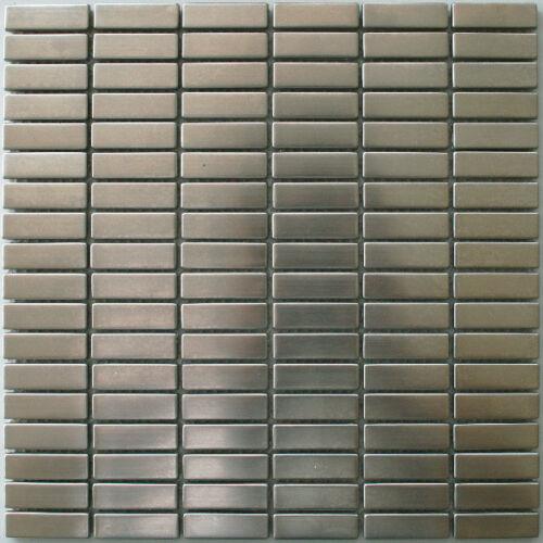 Stainless Steel Metal Mosaic Tiles Silver