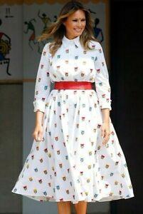 2020-Carolina-Herrera-Embroidered-Floral-First-Lady-Shirt-Dress-IT-42-US-6