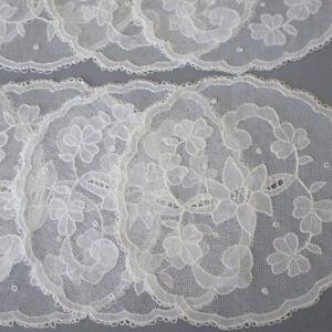 Set 9 Antique Handmade Irish CARRICKMACROSS Lace Doilies Coasters Goblet Rounds