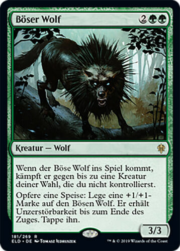 Magic The GatheringThron von EldraineBöser WolfNMNTGER