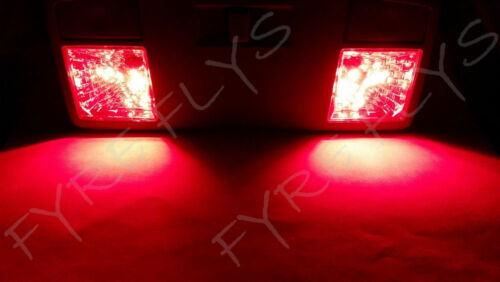 4x Red T10 168 194 2825 W5W 5 SMD LED Dome Map Cargo 4xM3