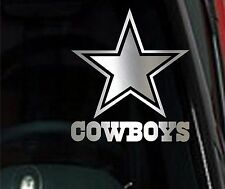 Pair Dallas Cowboys Star Chrome Vinyl Car Truck Decal Window - Cowboy custom vinyl decals for trucks
