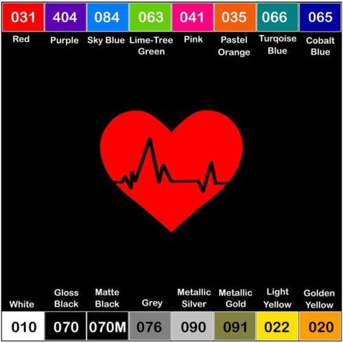 HEARTBEAT HEART Vinyl Decal Sticker Window Car Truck Nurse Love