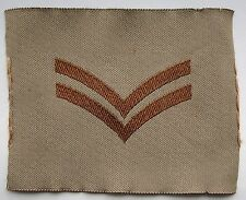 British Army, Original, Desert Issue Corpral's Rank Patch.