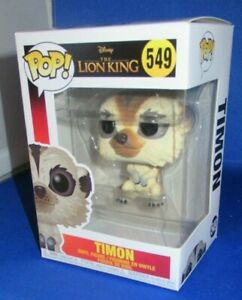 "LIVE ACTION TIMON  IN STOCK BRAND NEW POP DISNEY from /""THE LION KING/"", #549"