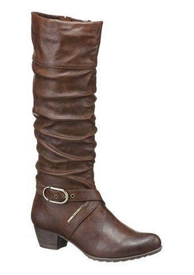 Tamaris Boots shoes Width  F (normal) - Brown-antishokk heel-size 37-neu