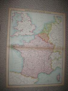 image is loading large superb antique 1922 france belgium holland times