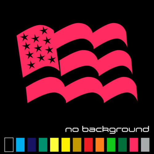 American Flag Sticker Vinyl Decal USA Stars United States Country Car Window