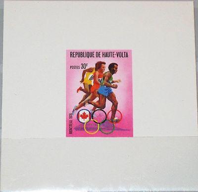 Zuversichtlich Upper Volta Obervolta 1976 617 390 Deluxe Olympia Montreal Langstreckenlauf Mnh Briefmarken