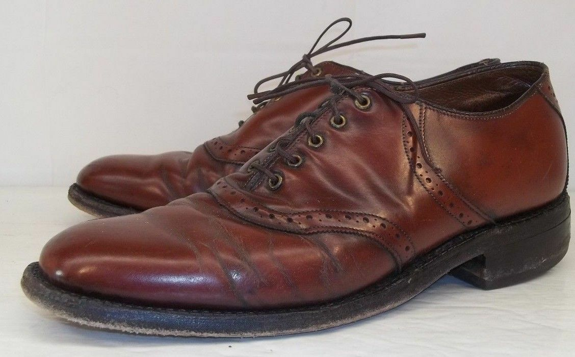 The Johnston&Murphy Shoe Uomo US 8 B Rossodish Brown Leather Lace Up Oxford Shoes