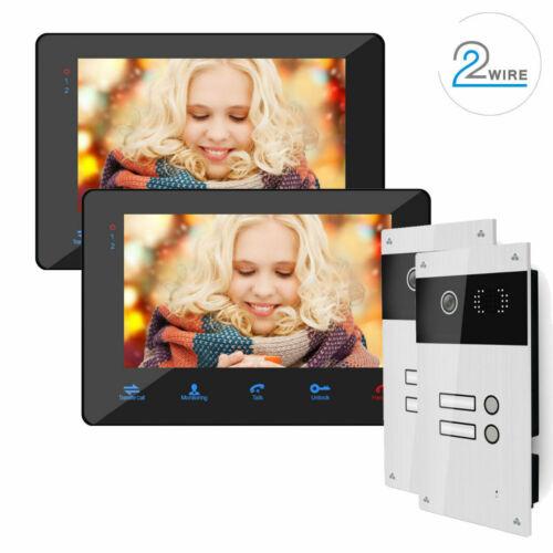 2 Draht Video Türsprechanlage 2 Familienhaus 170° Kamera Bilderspeicher schwarz