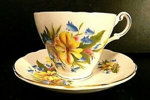 Regency Floral Tea Cup & Saucer - FBC - Made in England