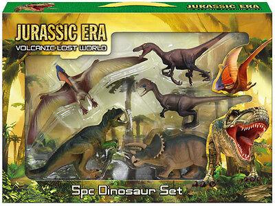 31pc Jurassic Dinosaur Action Figures Play Set Kids Toy Gift T Rex Park