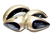 Harley 89 To 96 Flstf Fatboy Softail Oe Custom Silver Black Tanks Fenders
