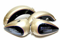 Harley 89 To 96 Flstf Fatboy Softail Oe Custom Silver Black Tanks Fenders