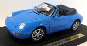 1-18-Maisto-escala-Diecast-31818-Porsche-911-carrera-Cabrio-1994-Azul