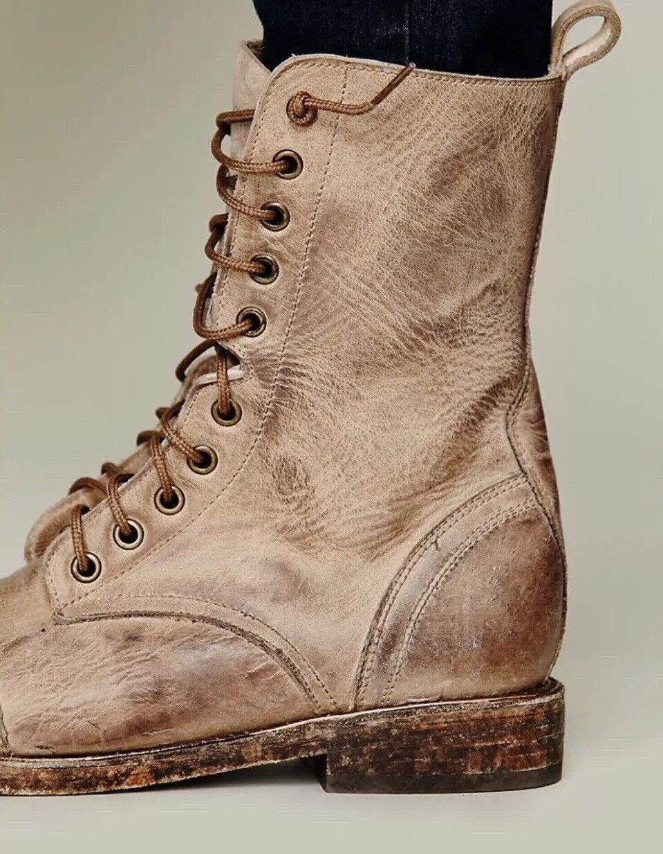 Freebird by Steven chase combat combat combat boots sz 9 Brand New Natural 1d8781