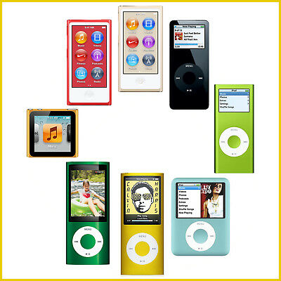 16GB 8th Generation//4GB Apple iPod Nano 1st 8GB 4th 5th 2nd 7th 3rd 6th