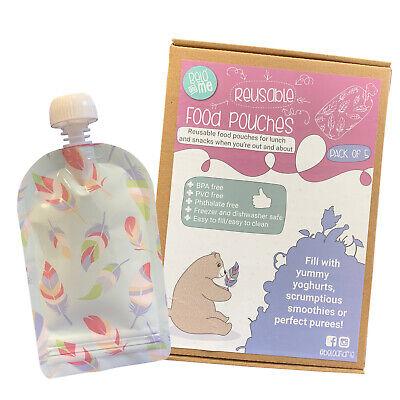Toddler Lave-vaisselle Congélateur Belo bébé Me réutilisable alimentaire Sachetssevrage