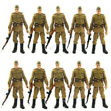 Hot Gift 10x Russian Soldier Troopers Indiana Jones Figures Toys & Accessory L05