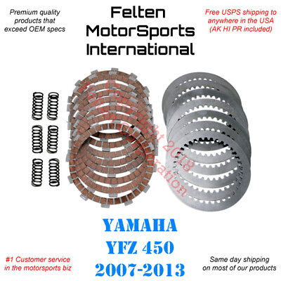 Yamaha YFZ450 YFZ 450 Heavy Duty HD Clutch Kit Disks Discs Plates Springs  07-13 | eBay