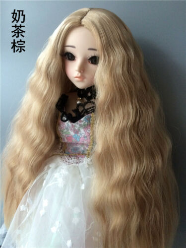Centre Parting Long Curly Wig Hair for BJD Ball-jointed Doll SD Super Dollfie