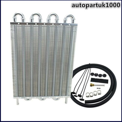 8 ROW ALUMINUM REMOTE TRANSMISSION OIL COOLER//AUTO-MANUAL RADIATOR CONVERTER