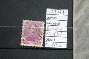 FRANCOBOLLI-BELGIO-USATI-N-131-F41771