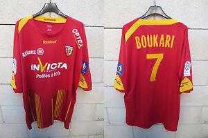 Maillot-porte-R-C-LENS-Ligue-1-NIKE-trikot-BOUKARI-n-7-match-worn-shirt-XXL-2010