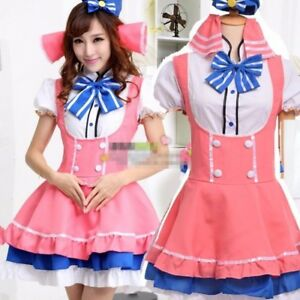 Minami Kotori Pink Kawaii Girl Dress Anime Love Live Cosplay Mini