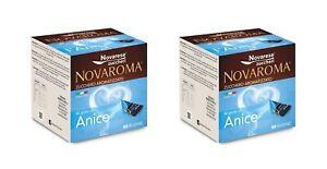Modeste Zucchero Aromatizzato - Aroma Anice - 2 X 80 Bustine - Novarese Zuccheri