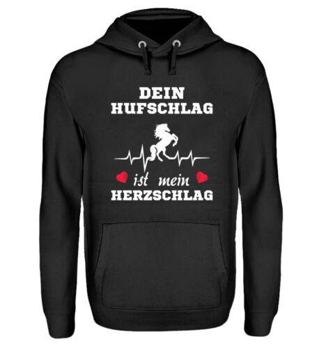 Pullover Hoodie tuo hufschlag è il mio battito cardiaco regalo compleanno ragazza