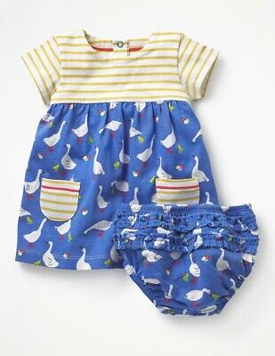 Boden Girls Tunic Dress Applique Ex Mini Boden Age 2-10 Years RRP £26