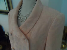 Louis Feraud Silk Suit Size 12 in Shell Pink
