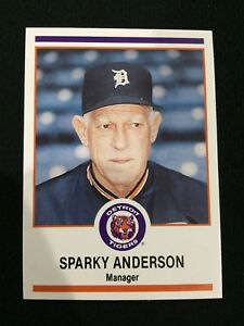 Details About Sparky Anderson Odd Ball Detroit Tigers Michigan Police 1989 Baseball Card