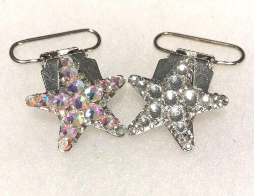Irish Dancing AB and Clear Star Number Clips