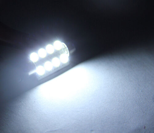 10X 5050 41mm 8SMD Car Interior Dome Festoon LED Light Bulbs Lamp DC12V  HF