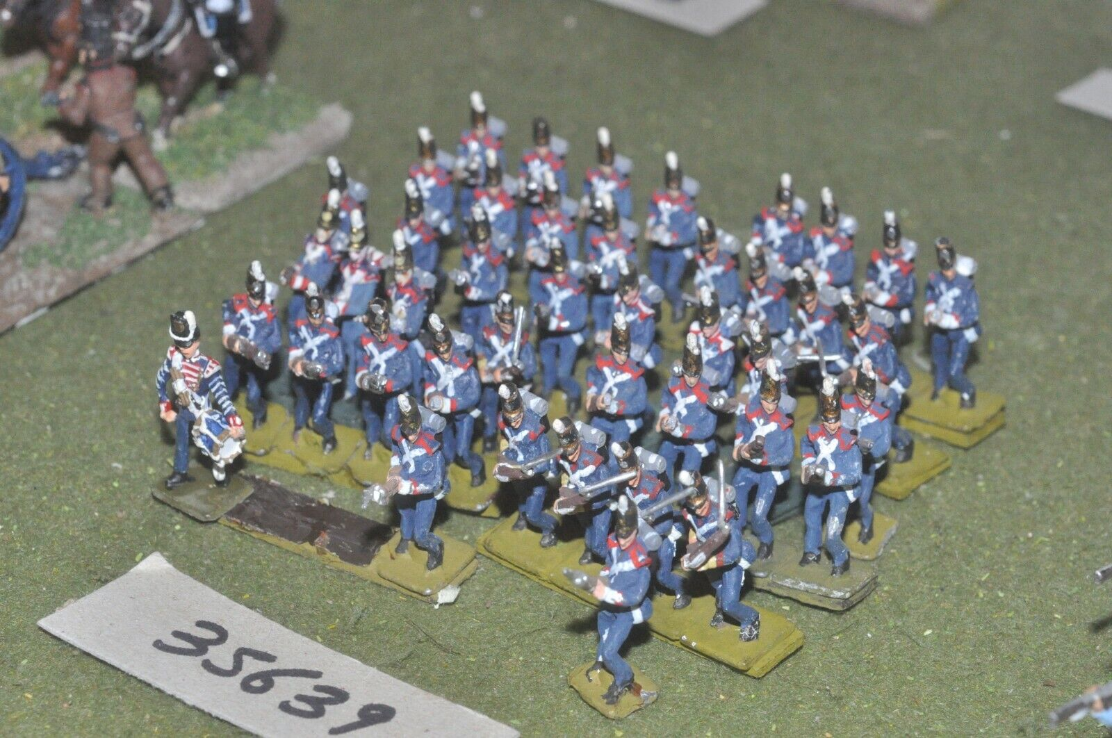 25mm napoleonic   portugese - line 28 figures - inf (35639)