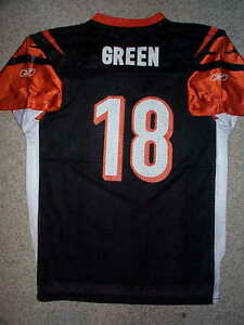 0745b80f Details about *IRREGULAR Cincinnati Bengals AJ Green nfl Jersey Youth Kids  Boys (xl) *IRR*