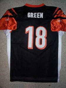 b7dd3170e IRREGULAR Cincinnati Bengals AJ Green nfl Jersey Youth Kids Boys (xl ...
