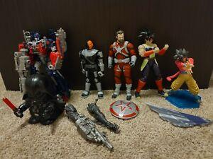 Hasbro Figure lot Star Wars Marvel Transformers Dragon Ball Z DC Slade Used