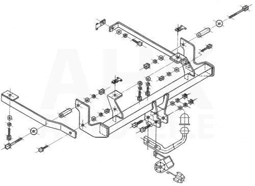 Für Citroen C8 FL 05-14 Anhängerkupplung starr+E-Satz 13p spez ABE