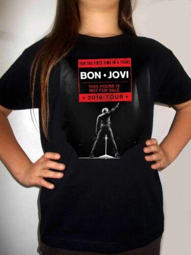 BON JOVI TOUR 2019 BLACK t-shirt kids clothing boy girl children gift shirt