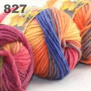 LOT-of-3x50gr-Skeins-NEW-Chunky-Hand-woven-Colors-Knitting-Scores-wool-yarn-827