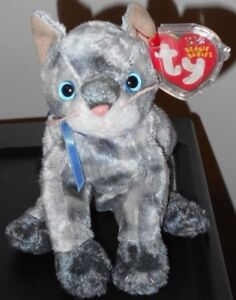 77200ff1672 Ty Beanie Baby - FRISCO the Grey   Gray Cat (8.5 Inch) MWMT ...