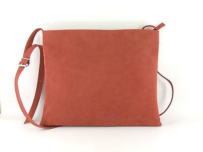 Hot Faux Suede Shoulder Cross-Body Bag Flat with Zip-Top