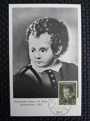 Europa Maximumkarten Ernst Niederlande Mk 1956 Malerei Painting Maximumkarte Maximum Card Mc Cm A9311
