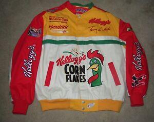 Vintage Jeff Hamilton NASCAR Racing Collection Jacket Kellogg's Terry LaBonte LG