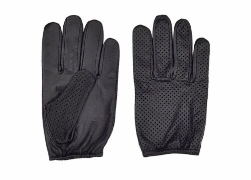 Genuine Leather Thin Mesh  Driving Gloves