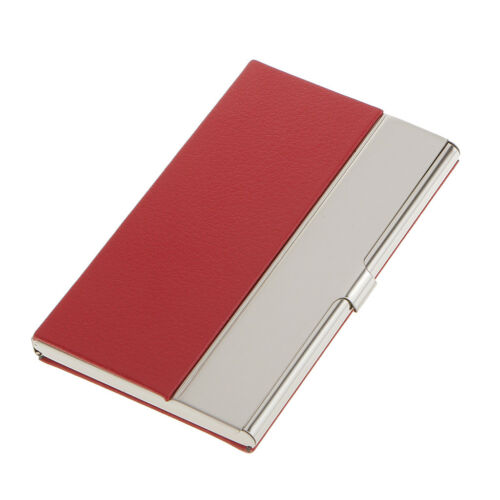 Stainless Steel Business Card Name Credit Card Holder Case-Red
